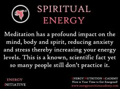 Meditation to increase energy. Make it second nature, but continuous prayer, which is the same (in my thoughts), provides the same result.