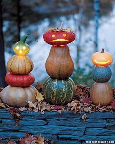 Oh Martha (Stewart) You've done it again! There is a bunch more fall decorating ideas on this link!