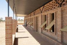 Great brick school in Gangouroubouro by LEVS architecten