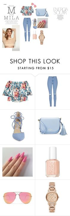 """""""Milas"""" by hankica ❤ liked on Polyvore featuring Elizabeth and James, Glamorous, Kristin Cavallari, Kate Spade, Magdalena, Essie, Quay and Burberry"""