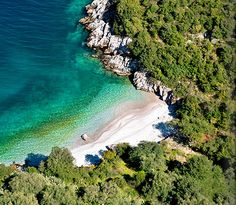 secluded cove near the town of Porto Heli on the east coast of the Peloponnese, Greece
