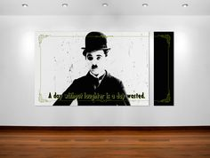 Charlie Chaplin quote poster art #posterart