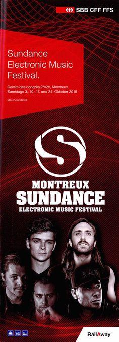 MONTREUX SUNDANCE ELECTRONIC MUSIC FESTIVAL 2015 - ORIGINAL FLYER