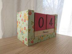 perpetual calendar #handmade #etsy #papercrafts