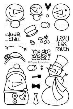 Freezy Fellas stamps from papersmoochesstamps.com