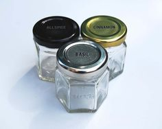 Single DIY Empty Hexagon Magnetic Spice Jars 1.5 oz by GneissSpice