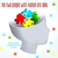 No two people with #Autism are alike.