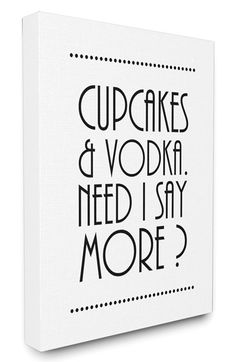 LulusimonSTUDIO 'Cupcakes & Vodka' Canvas Wall Art available at #Nordstrom