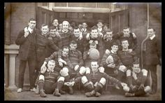 Rugby team, Goldsmiths' College, London, circa 1910.