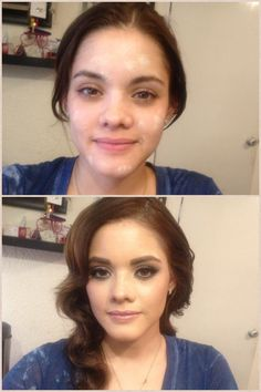 Before and after makeup natural colors