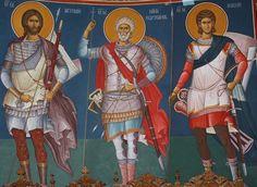Vizitează articolul pentru mai multe informații. Orthodox Icons, I Icon, Byzantine Art, Art, Warrior, Fresco, Art Icon, Contemporary Art, Zelda Characters