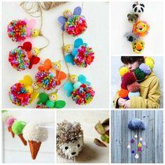 Fantastic Pom Pom Crafts - if you love pom poms, you will adore this brilliant selection of over 25 inspirational pom pom craft ideas. Adorable and fun.