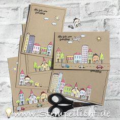 Stadt, Land, Gruß auf Savanne Stempelset Gastgeber Stampin´Up!