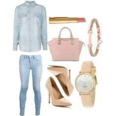 """Kim Kardashian // Denim On Denim Inspired x @D"" by heydenzy on Polyvore"