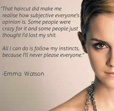 Hair Women Quotes With Romantic Love Pictures For Girls . Short Hair Women Quotes With Romantic Love Pictures For Girls a new haircut quotes - New Hair CutShort Hair Women Quotes With Romantic Love Pictures For Girls a new haircut quotes - New Hair Cut Hair Cut Quotes, Short Hair Quotes, Emma Watson Frases, Emma Watson Quotes, Short Hairstyles For Women, Trendy Hairstyles, Hair Quotes Inspirational, Romantic Love Pictures, Crazy People