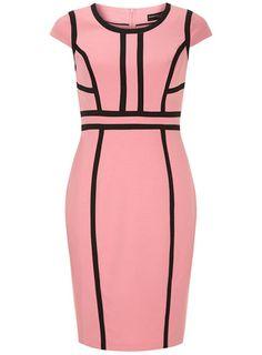 Pink dobby taped dress