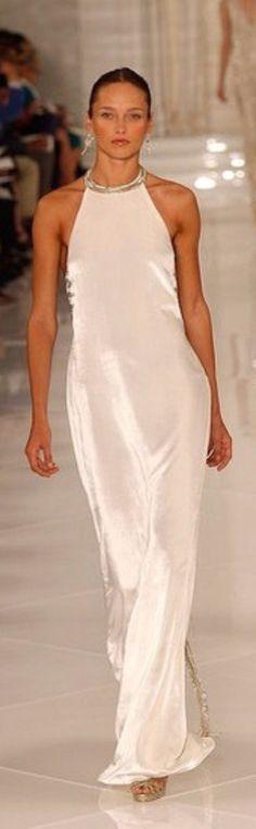 Long Cream Dress by Ralph Lauren