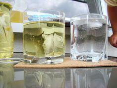 Ania mama Agnieszki: kostki lodu w oleju i wodzie