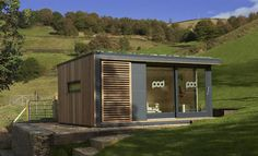 Garden Shed Home Offices Sprouting Up in UK : TreeHugger Shed Office, Backyard Office, Backyard Sheds, Garden Office, Concrete Base For Shed, Concrete Sheds, Log Cabin Sheds, Garden Log Cabins, Building A Shed Base