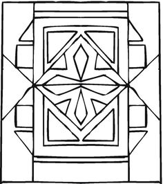 Geometric designs Coloring pages and Cartoon on Pinterest