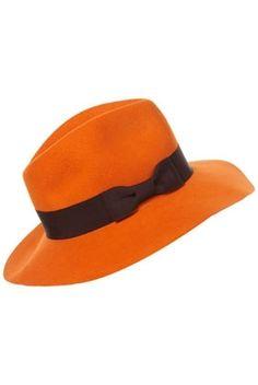 Orange Floppy Fedora - New In - Topshop - StyleSays