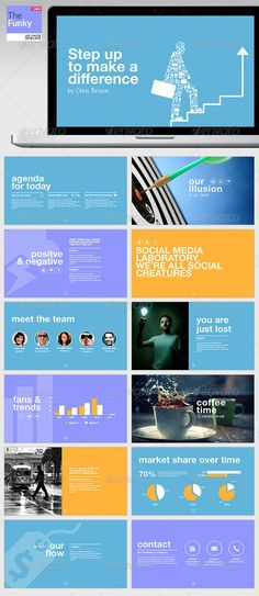 TheFunky Keynote Template | Keynote theme / template Keynote Design, Ppt Design, Slide Design, Presentation Deck, Business Presentation, Powerpoint Presentation Templates, Keynote Template, Business Powerpoint Templates, Multimedia