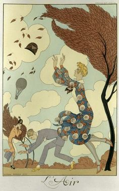 Getting a bit windy here. Art by George Barbier. 1926. Image ©Kharbine-Tapabor/British Library.