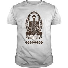 Monkey Buddha T-Shirts, Hoodies. BUY IT NOW ==► https://www.sunfrog.com/Holidays/Monkey-Buddha-White-Guys.html?41382
