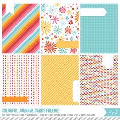 FREE Printables » Colorful Journal Cards | MissTiina.com {Blog}