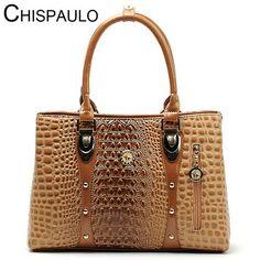 High Quality Crocodile Leather Tote Lady's Hand Bag