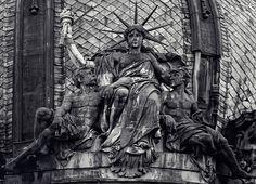 Unique sitting Statue of Liberty, Lviv, Ukraine