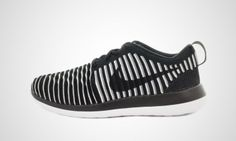 Nike - WMNS Roshe Two Flyknit (schwarz / weiß)