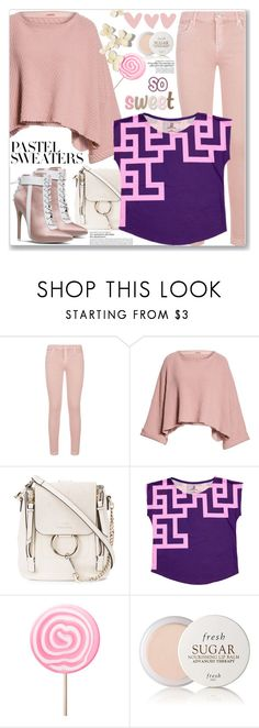 """""""So Sweet: Pastel Sweaters (Casual Chic)"""" by jecakns ❤ liked on Polyvore featuring 7 For All Mankind, Free People, Chloé, Fresh and pastelsweaters"""