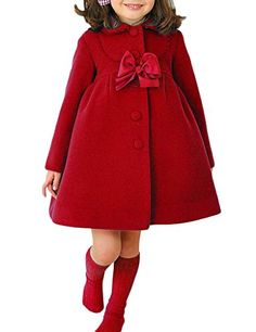Girls Pink Wool Cape