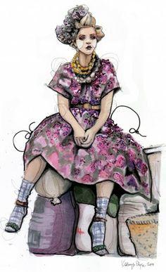 Street colors and fashion: Fashion illustration