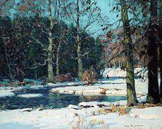 John F. Carlson. Sunlit Banks. #tree #landscape #art