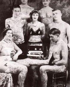 Vintage Tattoos Group Men & Women