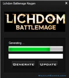 Are you seeking a Lichdom Battlemage Keygen ? This is key generator it will yield a unique key. The key generator is worldwide, it doesn't have region in the world, where it don't work ! Lichdom Battlemage Key generator enables you to try the full version of the game without completely no limits.  http://wazzupgames.com/lichdom-battlemage-keygen/