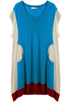 Tsumori Chisato | Colorblocked Linen Dress | La Garçonne