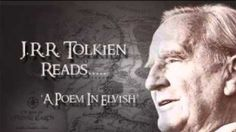 J.R.R. Tolkien's constructed Elvish languages have such elegant characters — and have been the subject of so much Tolkien-influence art — that it's easy to forget that they was meant to be spoken. Tolkien was, after all, a linguist, and he wanted his Elvish languages to sound a certain way as they rolled from a practiced tongue. In the recording above, Tolkien reads Namárië — Galadriel's lament — giving us a first-hand pronunciation of the Elvish tongue Quenya and a feel for the poem's…