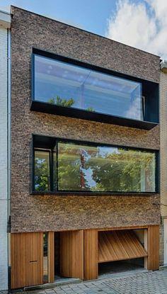 www vekohoutwerk sein portfolio - architecture Design - Modern Architecture House, Facade Architecture, Residential Architecture, Modern House Design, Architecture Portfolio, Brick Facade, Facade House, Small Buildings, Beautiful Buildings