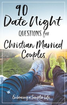 Date night questions for Christian married couples. Make date night fun and intentional! #datenightquestions #christianmarriage