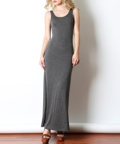 This 42POPS Charcoal Sleeveless Maxi Dress by 42POPS is perfect! #zulilyfinds