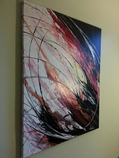 Huge contemporary home or office abstract wall by ArtbyPamelaHenry