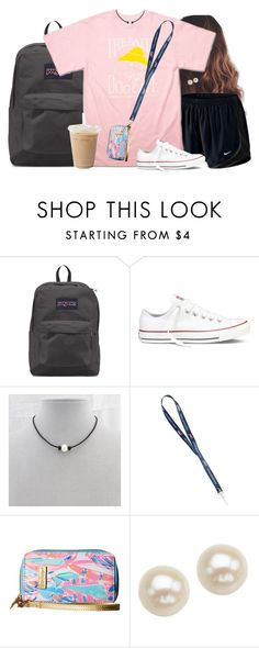 """Monday's ootd"" by aweaver-2 on Polyvore featuring NIKE, JanSport, Hanes, Converse, Lilly Pulitzer and Honora"