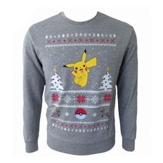 Pokemon Pikachu Unisex Christmas Sweater/Jumper Preorder ($30) ❤ liked on Polyvore featuring tops, sweaters, jumpers sweaters, jumper top, christmas tops, unisex tops and cotton sweater