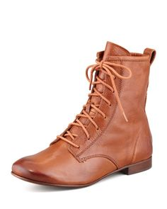 Jillian Leather Lace-Up Boot, Whiskey by Frye at Neiman Marcus.