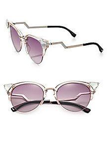 Fendi - Edged Zig-Zag Optyl Cat's-Eye Sunglasses
