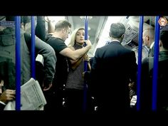 A Muslim man intervenes during a social experiment where a woman is groped in the London underground.