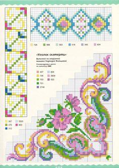 Cross Stitch Borders, Cross Stitching, Cross Stitch Embroidery, Cross Stitch Patterns, Crochet Patterns, Stitch Witchery, Hobbies And Crafts, Needlepoint, Retro